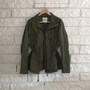 Madewell Olive Green Fleet Jacket